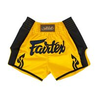 FAIRTEX Yellow Slim Cut Muay Thai Boxing Shorts (BS1701)