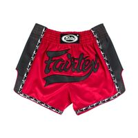 FAIRTEX Red Slim Cut Muay Thai Boxing Shorts (BS1703)